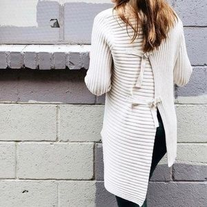 CAbi (3363) D-Ring Ribbed Knit Sweater